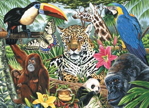 Royal & Langnickel PCL3 - Malen nach Zahlen Künstler Leinwand Serie - Zoo Montage Large