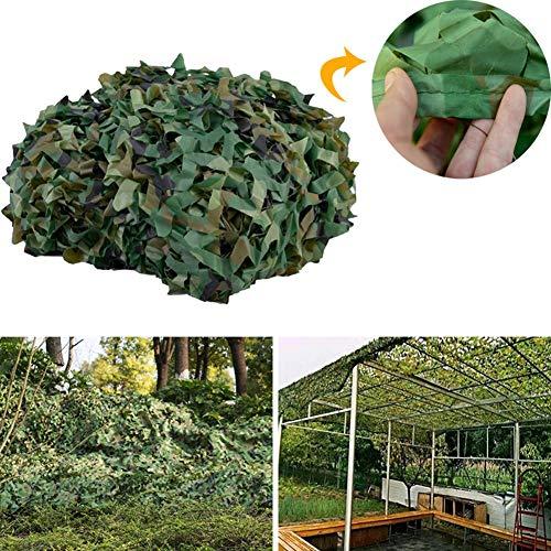 LXHONG Malla De Camuflaje Red De Camuflaje Antiaérea Selva Al Aire Libre Camuflaje Durable Anti-UV Visera Personalizable (Color : Camouflage Green, Size : 4x7m)