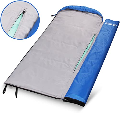 OutdoorMaster FlexiCamp Deluxe Sleeping Bag – All Season XL Sleeping Bag with Removable Liner and Included Compression Bag – For Hiking, Camping & Backpacking