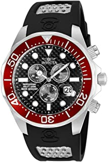 Invicta Men's Pro Diver Stainless Steel Quartz Diving Watch with Polyurethane Strap, Two Tone, 22 (Model: 12573)
