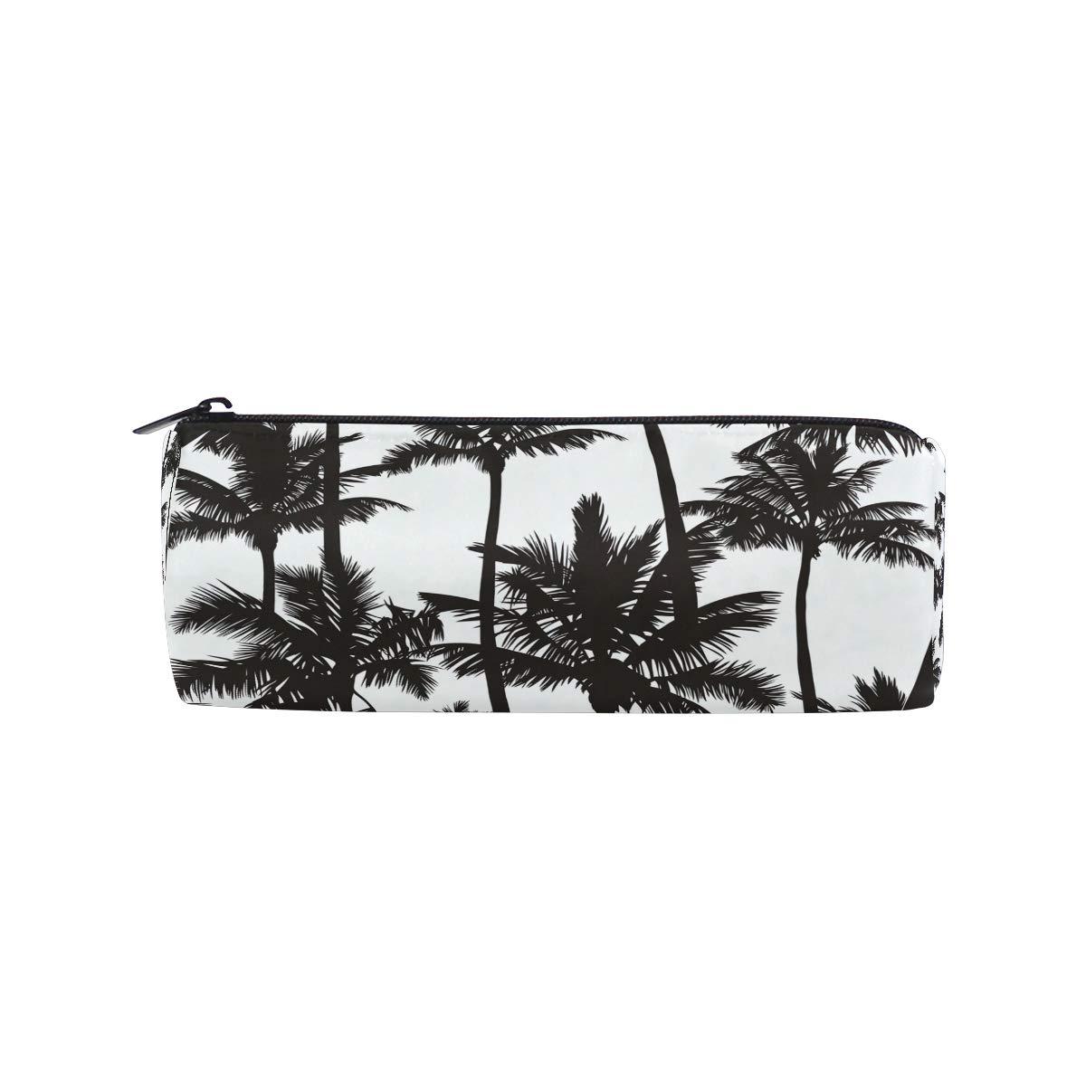 Bonie - Estuche para lápices con diseño de palmeras en blanco y negro: Amazon.es: Oficina y papelería