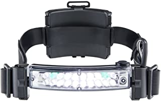FoxFury 420-L06 Command+ LoPro White/Green LED Fire and Impact Resistant Waterproof Helmet Light, 100 Lumens