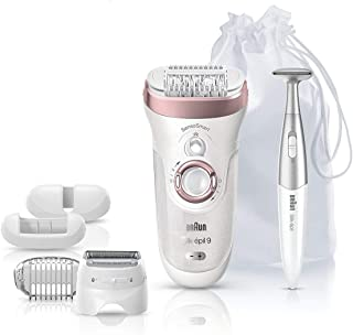 Braun Epilator Silk-épil 9 9-890 Facial Hair Removal for Women, Bikini Trimmer, Womens Shaver Wet & Dry, Cordless and 7 ex...