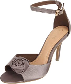 Catwalk Women's Rose Ankle Strap Stilettos
