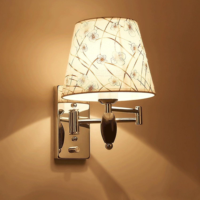 Fan Snow Wandlampe Schlafzimmer Nachttisch Lampe dimmbare Wand Lampe kreative moderne minimalistische langen Arm Hotel Wand Lampe Arbeitszimmer Lampe (Farbe   Single head)