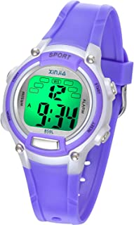 Kids Digital Watch,7 Colors LED Flashing 50M(5Bar) Waterproof Wrist Watches for Boys Girls Child Sport Outdoor Multifunctional Wrist Watches with Stopwatch/Alarm for Ages 5-14