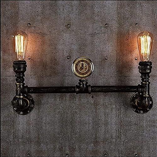 Praee Industrial Steampunk bar restaurante agua tubos de agua 2-luces retro hierro metal lámpara pared decorativa luz escono iluminación accesorios de iluminación cableado rústico elegante cocina sala