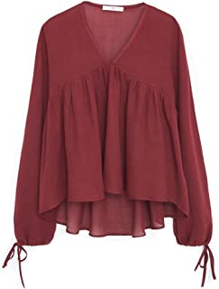 Mango Blouses For Women S, Red, Size S