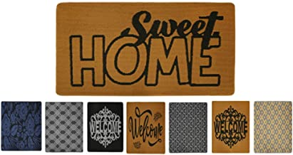 Feishibang Indoor Doormat Rubber Backing Non-Slip Door Mat Absorbent Resist Dirt Entrance Front Door Area Rug Machine Wash...