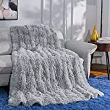 Ompaa Faux Fur Adults Weighted Blanket 15lbs for...