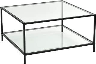 hexagon glass top coffee table