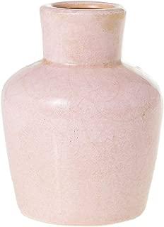 AC Decor Pastel Pink Ceramic Vase with Crackle Glaze, 5.75