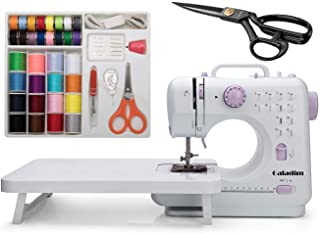 Sewing Machine by Galadim (12 Stitches, 2 Speeds, LED Sewing Light, Foot Pedal) - Electric Overlock Sewing Machines - Small Household Sewing Handheld Tool GD-015-BI