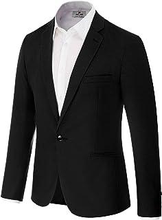 PAUL JONES Men`s Slim Fit One Button Blazer Jacket Casual Suit Jacket