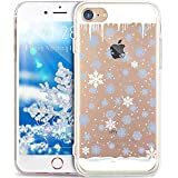 iPhone 5S Case,iPhone 5 Case,iPhone SE Case,ikasus Ultra Thin Soft TPU Case,Christmas Snowflake Serie,Soft Silicone Rubber Bumper Case,Crystal Clear Soft Clear Silicone Back Case for iPhone SE 5S 5,#4