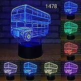 Grue Camion Incendie Autobus Scolaire Conception Acrylique Voiture Changement de Couleur Illusion Enfants Cadeau pièces Transport de débarquement