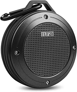 Bluetooth Speaker, MIFA F10 Portable Speaker with Enhanced 3D Stereo Bass Sound, IP56 Dustproof Waterproof, 10-Hour Playtime, Built-in Mic, Micro SD Card Slot, USB Audio Input