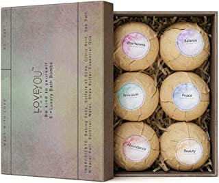 Vegan Bath Bombs For Women Relaxation Gifts Lush Bath Fizzies Self Care Gifts Bath Bomb Kit | 100% Vegan Natural Dye Free Preservative Free with Premium Essential Oils Shea Butter | Contains 6 Bombs