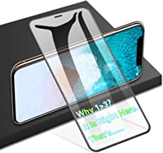 Agvee Full Coverage 3D Perfect Arc Fit Tempered Glass Screen Protector for Apple iPhone XR, 9H Toughness, PC Edge Corner, i-Phone 6.1'' (10xr 10r 10-r) Anti-Fingerprint Saver Cover FilmAgvee Full Cov