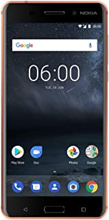 Nokia 6 - 32 GB - Dual Sim Unlocked Smartphone (AT&T/T-Mobile/Metropcs/Cricket/Mint) - Update To Android 9.0 PIE - 5.FHD Screen - Copper - U.S. Warranty