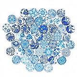 Cabujón Cúpula Cristal Piedras Vidrio Cabujones Cabujones Impresos Diy Craft Jewelry Making Colgante Cabujón Vidrio Coloreado Bisutería Cúpula Plana Vidrio Para La Joyería Collar Que Hace 40 Piezas