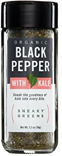 Sneaky Greens Organic Ground Black Pepper with Organic Kale | Better-for-You Gourmet Spices Blended with Nutrient-Rich Kale | Healthy Spices Perfect for Everyday Use