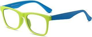 Blue Light Blocking Glasses for Kids, Square Unbreakable Eyeglasses Frame, Anti Reflective Blue Light Glasses, Age 3-12(Gr...