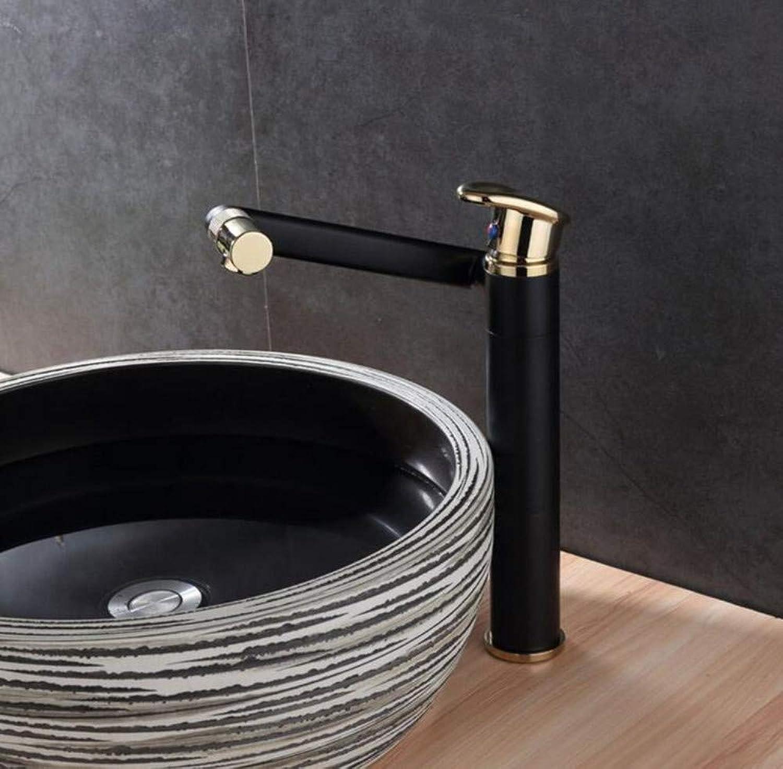 Mischbatterien Waschtischmischer-Waschtischarmaturen Kaltwasser-Schwenker 360 ° Gold-Messingarmaturen Für Waschbecken