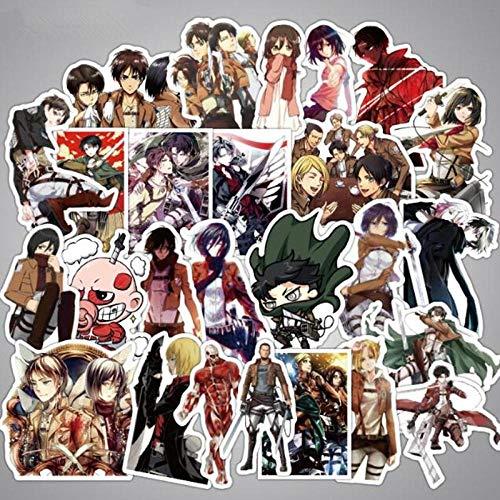 39 Stks/partij Merk Anime Aanval Op Titan Graffiti Stickers Voor Laptop Koffer Skateboard Waterdichte Pvc Motorfiets Stickers Stickers