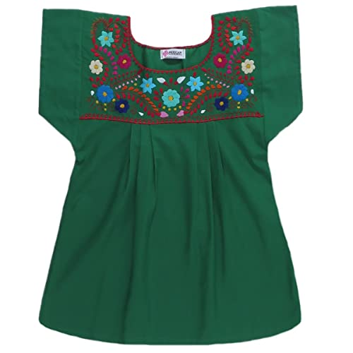 5883f7b66c Mexican Clothing Co Womens Mexican Long Blouse Peasant Tehuacan Poplin