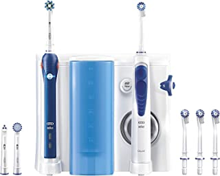 Oral-B Oral Health Center Oxyjet Cleaning System + PRO 2000 Electric Toothbrush - Blue & White