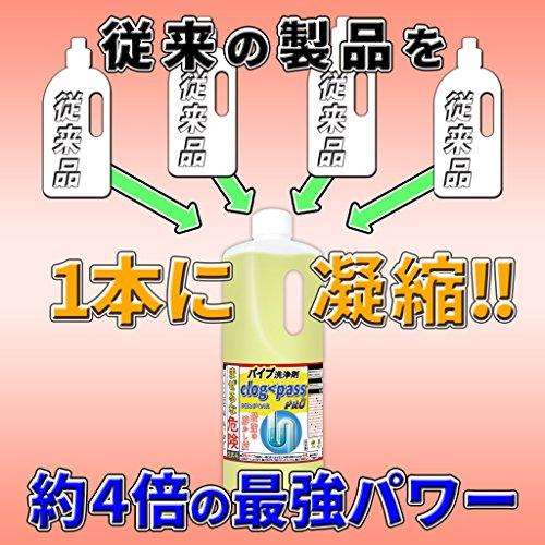 純閃堂『パイプ洗浄剤クロッグパス(PP-C1000)』