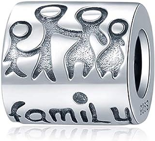 EVESCITY Multi-Selection Silver Pendents 925 Sterling Beads Fits EvesErose, Pandora, & Similar Charm Bracelets & Necklaces