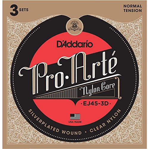 D'Addario EJ45-3D Clásico 6pieza(s) Nylon Guitarra cuerda para instrumento musical - Cuerdas para instrumentos musicales (Guitarra, Nylon, Clásico, 6 pieza(s))