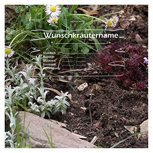 Bütic GmbH plexiglas kruiden plantenbord houtplanklook transparant - kruidenborden kamille