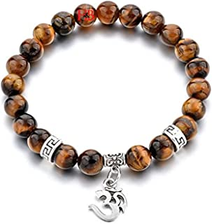 "Hot And Bold Aum""Certified"" Natural Semi Precious Reiki Crystal Gem Stone Beads Stones Energy Charm Bracelet."