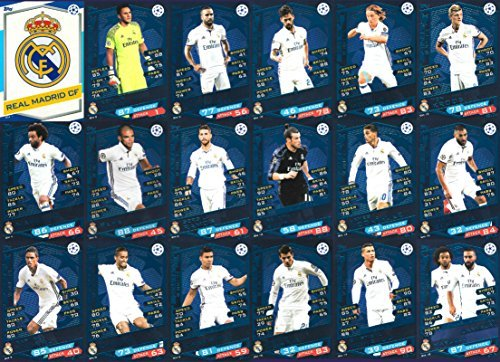 2016/17 MATCH ATTAX CHAMPIONS LEAGUE REAL MADRID TEAM SET 18 KARTEN