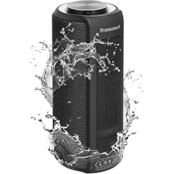 Waterproof Bluetooth Speakers, Tronsmart T6 Plus 40W Outdoor Speakers Bluetooth 5.0, IPX6 Portable Wireless Speakers with Tri-Bass Effects, 15-Hour Playtime with 6600mAh Power Bank, TWS