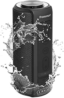 Waterproof Bluetooth Speakers, Tronsmart T6 Plus 40W Outdoor Speakers Bluetooth 5.0, IPX6 Portable Wireless Speakers with Tri-Bass Effects, 15-Hour Playtime with 6600mAh Power Bank, TWS, Built-in Mic