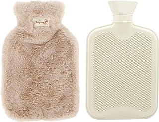 Hot Water Bottle,0.8L Hot Water Bottle with Fleece Cover,Hot and Cold Water Bottle,Fashy Hot Water Bottle for kid (light b...