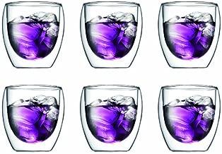 Bodum Pavina 8-Ounce Double Wall Thermo Glass, Set of 6