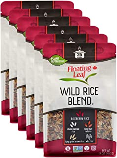 Floating Leaf Wild Rice Blend - 14 ounces, 6 count - Wild Rice Blend With Rice Berry, Red Rice And Brown Ri...