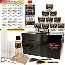 Custom Shop Pinstriping Ultimate Box Kit with Storage Box - 10-4 Ounce Enamel Paint Colors, Tape, Reducer, Brushes and Mixing Cups