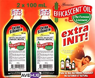 2 Efficascent Oil Extra Strength 100mL Counterirritant (2 bottles x 100mL) by Efficascent Oil