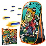 Quanquer Kids Zombie Shooting Practice Target Toy - Compatible with Nerf Gun for Boys Girls Ages 6+ Indoor Outdoor Game Set & Party Supplies