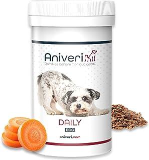 Aniveri Daily Dog für Hund/Hunde/Welpen - natürliches Nahrungsergänzungsmittel, 100g Pulver, Magnesium-Vitamin Komplex, Perfektes Zubehör für Hundefutter, Barf Trockenfutter-Nassfutter