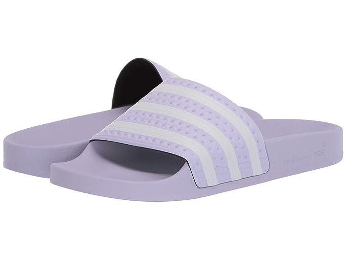 adidas  Adilette (Purple Tint/Footwear White/Purple Tint) Womens Slide Shoes