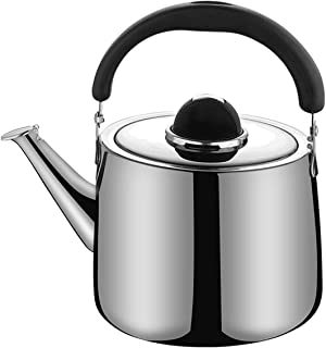 M-MAX Stainless Steel Tea Kettle Stovetop Whistling Teakettle Teapot with Ergonomic Handle -4QT(4 L)