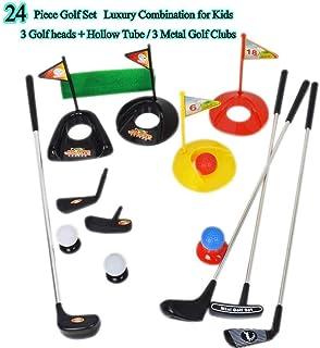 Talla Grande ! Juguetes Deportivos Populares Juegos de Accesorios de Golf para niños Juegos de Kits para niños Niños pequeños Clubes de Golf Set de plástico Sprots Juguetes (24 Piezas)