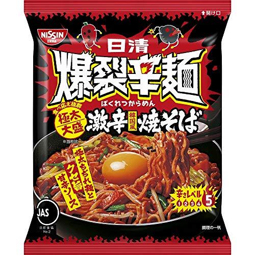 日清爆裂辛麺韓国風極太大盛激辛焼そば130g×12袋